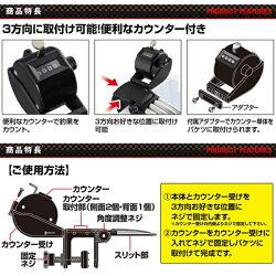【プロックス】ワンタッチワカサギ外しアイアンクロー(カウンター付)ブラック(PX8302ICNK)