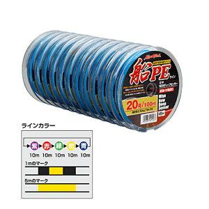 ニューディープセンサー 15号(100m単位 最大12連結)※1個ご購入で100m分となります ミヤエポック  PEライン 15号