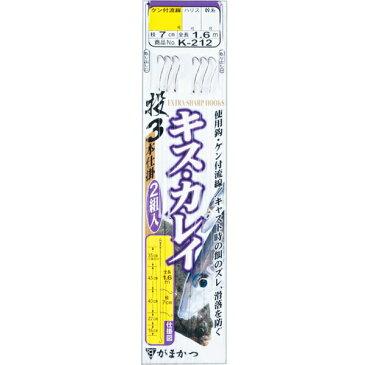 がまかつ(Gamakatsu) 投釣仕掛ケン付流線 白3本 K-212 6号 【ネコポス配送可】