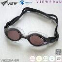 【スイムゴーグル】【女性専用】VIEW ビュー クッション付き スイミングゴーグル クリアタイプ スワイプアンチフォグ VIEWFRAU(ビューフラウ) 水泳 V820SA-BR