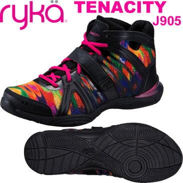 [RYKA]ライカ フィットネス TENACITY 〔ブラック・カラフルペイント柄〕 C8149M-J905(22.0〜26.5cm/レディース/メンズ)<テナシティー>【ダンスシューズ】【18SS03】【正規品】/送料無料