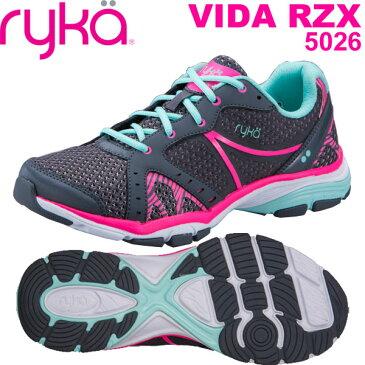 [RYKA]ライカ フィットネス VIDA RZX 〔グレー〕 D1996M-5026(22.5〜25.0cm/レディース/メンズ)<ヴィーダRZX>【ダンスシューズ】【18SS09】【正規品】/送料無料