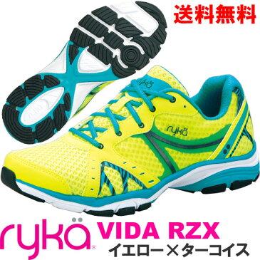 [RYKA]ライカ フィットネス VIDA RZX 〔イエロー〕 D1996M-5700(22.5〜26.5cm/レディース/メンズ)<ヴィーダRZX>【ダンスシューズ】【17FW09】【正規品】/送料無料