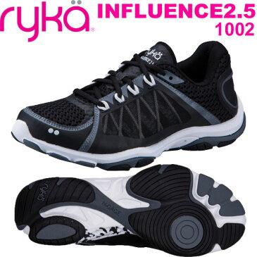 [RYKA]ライカ フィットネス INFLUENCE2.5 〔ブラック〕 E5060M-1002(22.5〜25.5cm/レディース)<インフルエンス2.5>【ダンスシューズ】【18SS03】【正規品】/送料無料