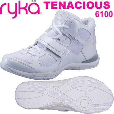 [RYKA]ライカ フィットネス TENACIOUS 〔ホワイト〕 E6643M-6100(22.0〜28.0cm/レディース/メンズ)<テナシオス>【ダンスシューズ】【18SS03】【正規品】/送料無料