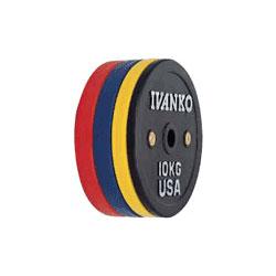 [IVANKO] ラバーウェイトリフティングオリンピックプレート(25kg)〔OCBプレート〕【送料別途徴求】※代引不可※