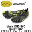 [vibram fivefingers] ビブラムファイブフィンガーズ Men's KMD EVO(ケーエムディ エボ)〔Black/Yellow〕(メンズ)/送料無料