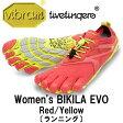 [vibram fivefingers] ビブラムファイブフィンガーズ Women's BIKILA EVO(ビキラ エボ)〔Red/Yellow〕(レディース)/送料無料