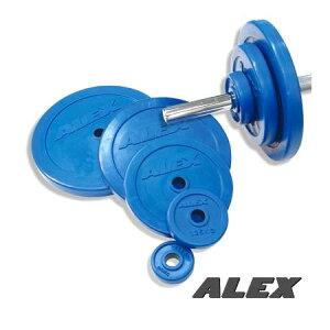 【Φ28mmバーベルプレート】ALEX(アレックス)RPラバープレート 15kg