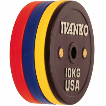 IVANKO(イヴァンコ)OCBプレート(ラバーウエイトリフティングオリンピックプレート)競技用 25kg(赤)[Φ50mmバーベルプレート]