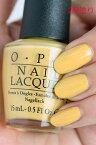 OPI(オーピーアイ) NL W56 Never a Dulles Moment(Creme) (ネバー ア ダレス モーメント)opi マニキュア ネイルカラー ネイルポリッシュ セルフネイル 速乾 イエロー マスタード 黄色 マット