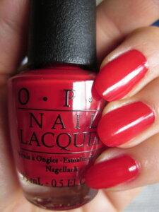 OPI(オーピーアイ) NL N25 Big Apple Red(ビッグ アップル レッド)opi マニキュア ネイルカラー ネイルポリッシュ セルフネイル 速乾 赤 レッド 真っ赤 マット 検定