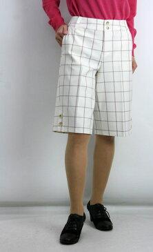 【60%OFF】【SALE】【ルイシャンタン】【Lui Chantant】【ワールド ルイシャンタン】【あす楽】【訳あり】トラッドチェックハーフパンツ レディース ファッション パンツ