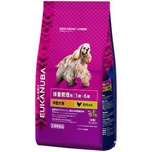 ユーカヌバ 1歳~6歳用 体重管理用 中型犬種(小粒)2.7kg【P&G ドッグフード】