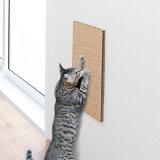 吸着壁に貼れる猫の爪とぎ麻