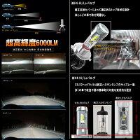 LEDヘッドライトPHILIPS新型2ndGZESチップ6000Lm×212V/24VヘッドライトH4/HB3/HB4/H8/H11/H163000K/6500K/8000KフィリップスLEDロービーム/ハイビーム/フォグランプファンレスオールインライトパーツカー用品