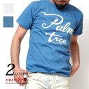 Tシャツ メンズ 半袖 ホワイト ブルー 厚手 フロントロゴ S-XL LL 2L 人気 アメカジ スマートスパイス スマスパ 0163
