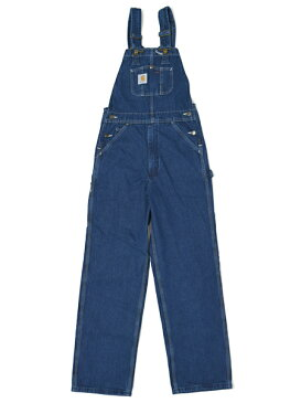 【送料無料】CARHARTT WASHED DENIM BIB OVERALL-DARKSTONE【R07-DST-BLUE LWASH】