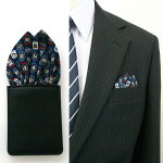 ポケットチーフ fixpon フィックスポン 簡単装着!型崩れなし!贈り物にも最適!