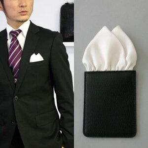 フィックスポンツーピークス【ホワイト】fixponポケットチーフ