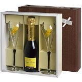 【送料無料】 <375mlハーフボトル> ジョセフ・ペリエ シャンパーニュ グラスギフト (泡1、グラス2) 父の日 ワイン ギフト ワイングラス 結婚祝 誕生日 グラス付き プレゼント シャンパン ギフトセット 女性 男性 お酒 ジョセフペリエ ミモザ