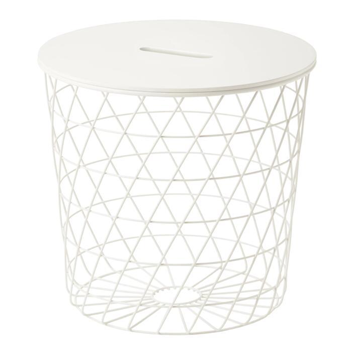 【IKEA(イケア)】 IKEA イケア KVISTBRO クヴィストブロー サイドテーブル 36x35 cm 10349453  寝室 ベッドルーム 机 デスク おしゃれ 北欧 かわいい リビングテーブル 丸