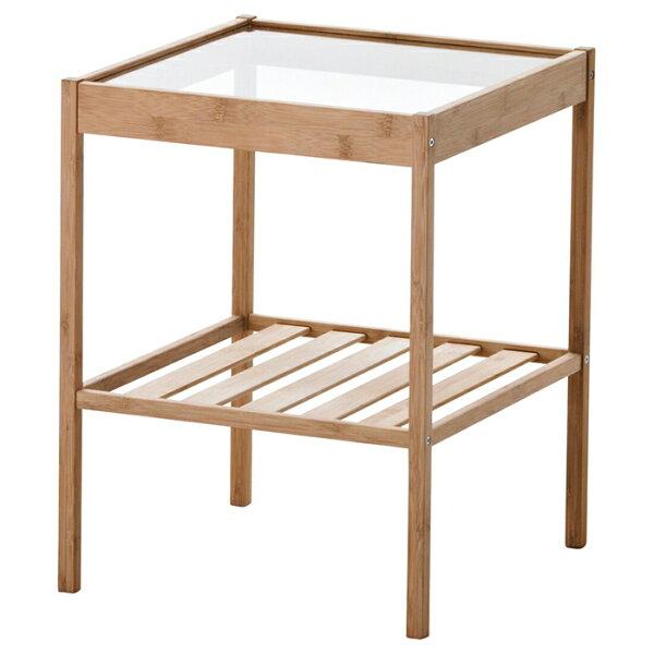 NESNAベッドサイドテーブルネスナ36x35cm20247128寝室ベッドルーム机デスクおしゃれ北欧かわいいガラスコーヒーテー