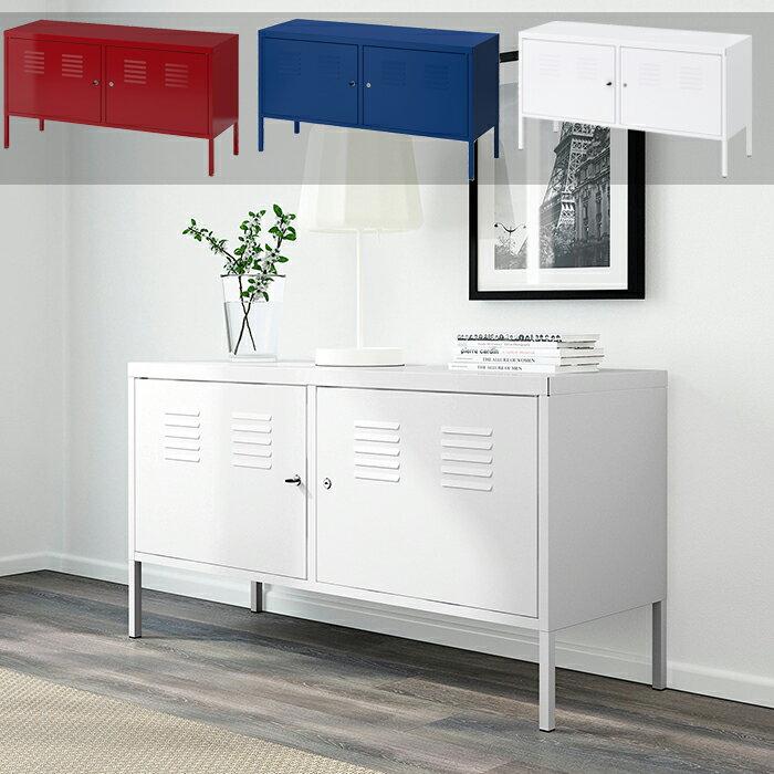 【IKEA / イケア】 IKEA PS キャビネット ホワイト 90251452 食器棚 収納家具 収納棚 キッチン棚 キッチンラック おしゃれ オシャレ 収納ボックス 大人気商品 ロータイプ スリム 一人暮らしにも最適