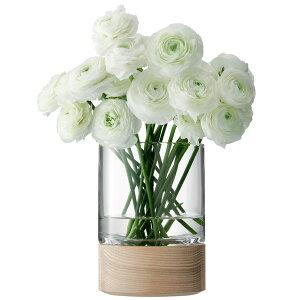 LSA InternationalLOTTA[ロッタ] フラワーベース 花瓶 クリアガラス ウッド高さ180mmP27Mar15