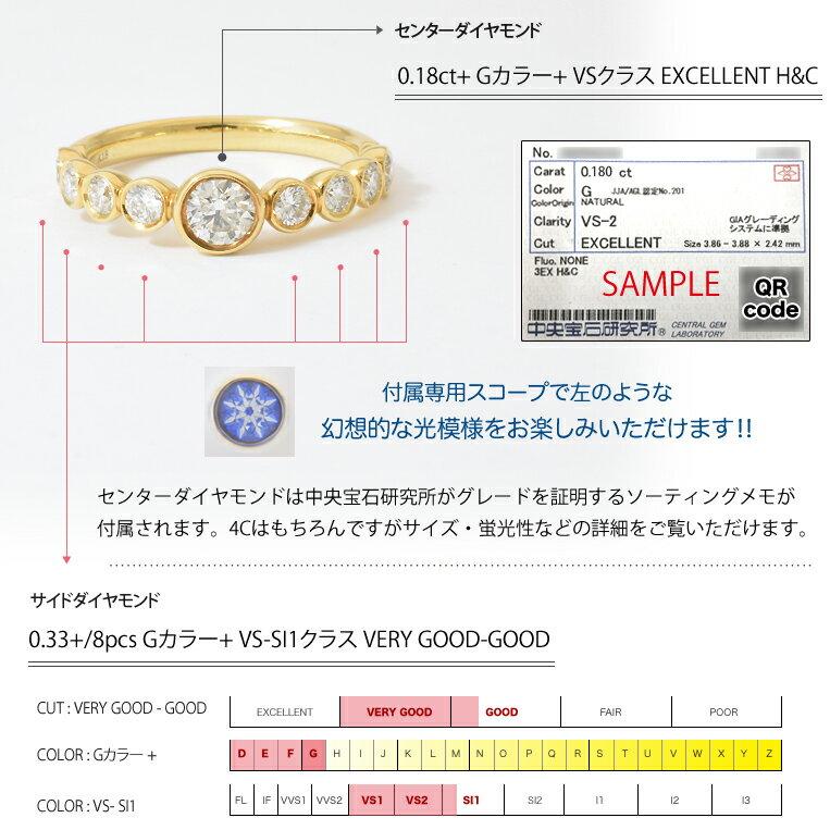 K18 ダイヤモンド 0.52ct リング[Bague 052]ゴールド プラチナ 18金 エタニティリング H&C 指輪 ベゼル フクリン FLAGS フラッグス【オプション価格は税別価格です】