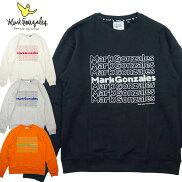 【MARKGONZALES/マークゴンザレス】プリント&相良刺繍クルーネックトレーナークルースウェット2G7-4319