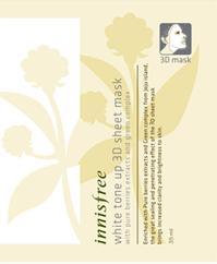 White tone up 3D sheet mask white tone-up 3D sheet mask 35 ml Korea cosmetics and Korea cosmetics and Han Kos /BB cream /bb