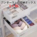 6個セット アンダーウェア収納ボックス XL+M+Sサイズ 下着収納 引き出し用(SMYM)【送料無料】【在庫有】【s14】【あす楽】