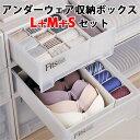 5個セット アンダーウェア収納ボックス L+M+Sサイズ 下着収納 引き出し用(SMYM)【送料無料】【在庫有】【s8】【あす楽】