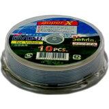 【アウトレット】SuperX アナログ録画用 8cm DVD-R 30分 等倍速対応 10枚**