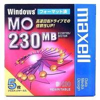 マクセル3.5型MOディスク230MB5枚Windowsフォーマット済みMA-M230WINB5P