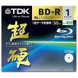 TDK データ用ブルーレイディスク 超硬シリーズ BD-R DL 50GB 1-4倍速 ホワイトワイドプリンタブル 1枚 10mmケース BRD50HCPWB1A