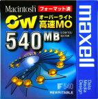 【売り切り御免!在庫限り】 maxell 3.5インチ オーバーライト対応高速 MOディスク Macフォーマット済 540MB 1枚 RO-M540.MAC.B1P
