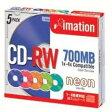 Imation データ用CD-RW 700MB 4倍速対応 5枚 5mmスリムケース カラーミックスレーベル CDRW80ACLNX5S