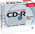 Imation データ用CD-R 700MB 52倍速 10枚 5mmスリムケース 5色カラーミックス インクジェットプリンタ対応 CDR80PCBX10P