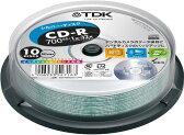 TDK データ用CD-R 700MB 32倍速 10枚 スピンドルケース シルバープリンタブル インクジェットプリンタ対応 CD-R80ESX10PS