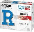 【日本製】TDK データ用CD-R 700MB 48倍速 10枚 5mmスリムケース入り ホワイトワイドプリンタブル インクジェットプリンタ対応 CD-R80PWDX10B