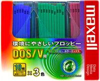 【FD30枚パック!】Maxell3.5型フロッピーディスクカラーミックスWindows(DOS/V)フォーマット済み!MFHD18MIXC10P3【メール便】