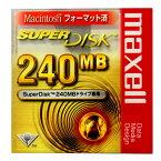 【激レア!】マクセル SuperDisk 240MB(スーパーディスク)ブラック 1枚 Macintoshフォーマット SD240.MAC.B1P