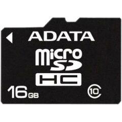 【セール特価】ADATA MicroSDHCカード 16GB Class10 SD変換アダプター付 AUSDH16GCL10-RA1【メール便OK】