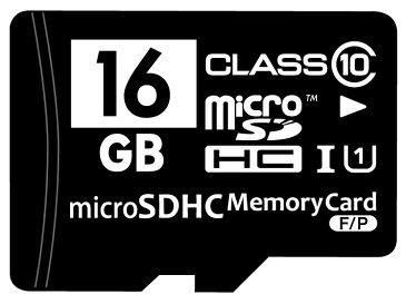 ☆バルク品☆microSDHCカード Class10 16GB SD変換アダプター/プラケース付き MFMCSDHC10X16G_BULK 【メール便OK】【返品交換不可】