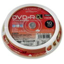 HIDISC CPRM対応 録画用 DVD-R DL 片面2層 8.5GB 10枚 8倍速対応