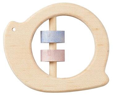 Ed.Inter(エドインター) NIHONシリーズ [どうぶつラトル かたつむり] がらがら ラトル おもちゃ 木製玩具 木のおもちゃ