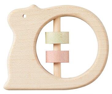 Ed.Inter(エドインター) NIHONシリーズ [どうぶつラトル りす] がらがら ラトル 木製玩具 木のおもちゃ