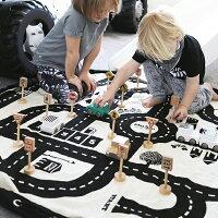 play&go(プレイアンドゴー)[2in1ストレージバッグ&プレイマットロードマップ]ベビーマット